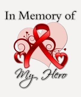 Enfermedad cardíaca en memoria de mi héroe camiseta