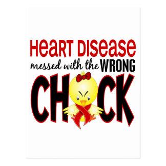Enfermedad cardíaca ensuciada con el polluelo tarjetas postales
