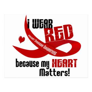 Enfermedad cardíaca llevo el rojo para MÍ 33 Postales