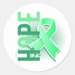 Enfermedad celiaca de la esperanza 2 pegatina redonda
