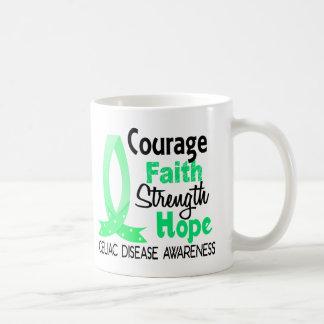 Enfermedad celiaca de la esperanza de la fuerza de taza de café