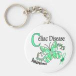 Enfermedad celiaca de la mariposa 2 del vitral llavero personalizado
