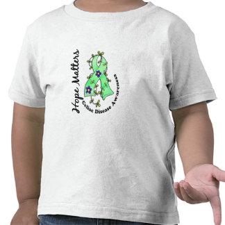 Enfermedad celiaca de las materias de la esperanza camisetas