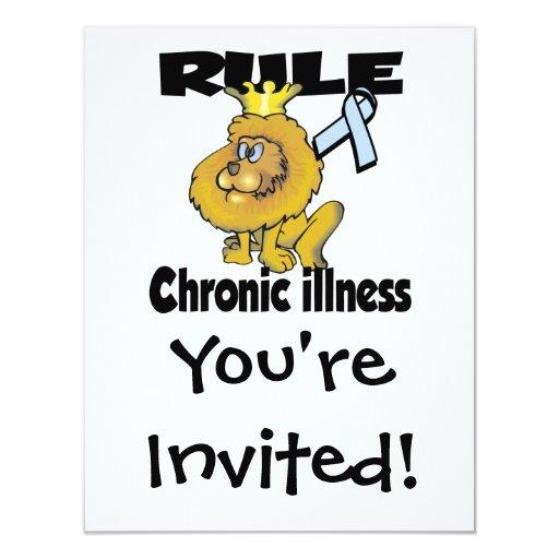 Enfermedad crónica de la regla invitación personalizada