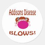 Enfermedad de Addisons Etiqueta Redonda
