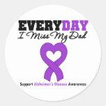 Enfermedad de Alzheimer cada Srta. My Dad del día  Etiqueta Redonda
