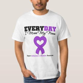Enfermedad de Alzheimer cada Srta. My Nana del día Camisas