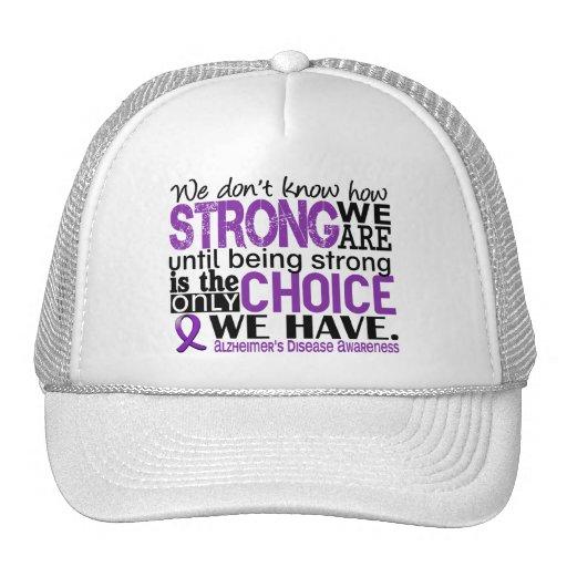 Enfermedad de Alzheimer cómo es fuerte somos Gorras