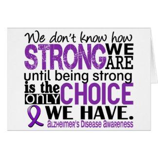 Enfermedad de Alzheimer cómo es fuerte somos Tarjetón