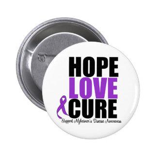 Enfermedad de Alzheimer de la curación del amor de Pin Redondo De 2 Pulgadas
