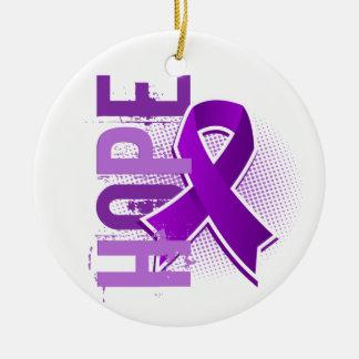 Enfermedad de Alzheimer de la esperanza 2 Adorno Navideño Redondo De Cerámica