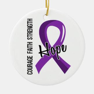 Enfermedad de Alzheimer de la esperanza 5 de la fe Ornamento Para Reyes Magos