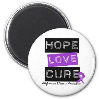 Enfermedad de Alzheimer de la etiqueta de la curac Imán Redondo 5 Cm