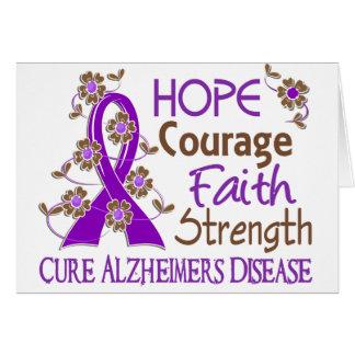 Enfermedad de Alzheimer de la fuerza 3 de la fe de Tarjeta De Felicitación
