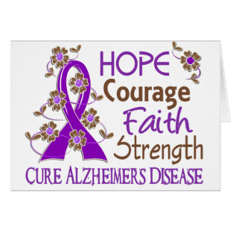 Enfermedad de Alzheimer de la fuerza 3 de la fe Tarjeta De Felicitación