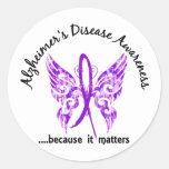 Enfermedad de Alzheimer de la mariposa 6,1 del Etiqueta Redonda