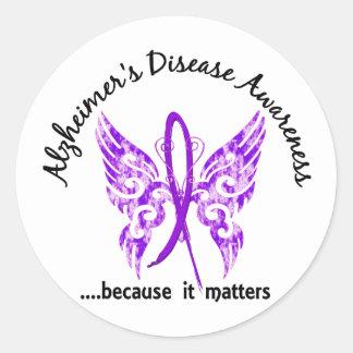 Enfermedad de Alzheimer de la mariposa 6,1 del Pegatina Redonda