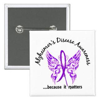 Enfermedad de Alzheimer de la mariposa 6,1 del Pin Cuadrado