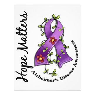 """Enfermedad de Alzheimer de las materias de la Folleto 8.5"""" X 11"""""""