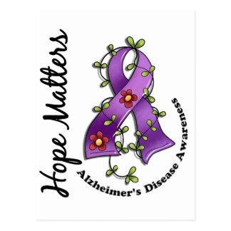 Enfermedad de Alzheimer de las materias de la Postal