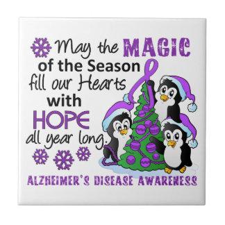 Enfermedad de Alzheimer de los pingüinos del navid Teja Ceramica