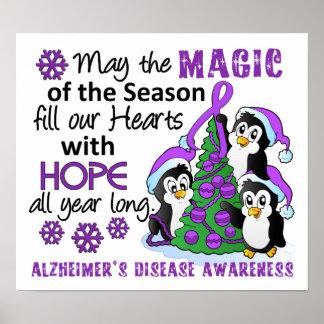 Enfermedad de Alzheimer de los pingüinos del navid Póster