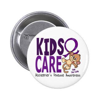 Enfermedad de Alzheimer del cuidado 1 de los niños Pin Redondo De 2 Pulgadas