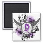 Enfermedad de Alzheimer púrpura de la cinta y de l Iman De Frigorífico