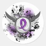 Enfermedad de Alzheimer púrpura de la cinta y de l Etiquetas Redondas