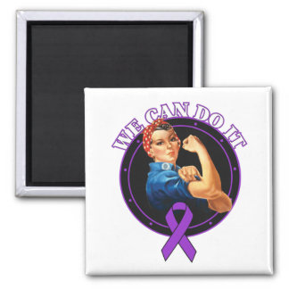 Enfermedad de Alzheimer Rosie el remachador podemo Imán Cuadrado