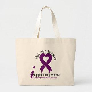Enfermedad de Alzheimers apoyo a mi madre Bolsas Lienzo