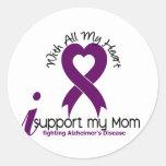 Enfermedad de Alzheimers apoyo a mi mamá Etiquetas Redondas