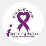 Enfermedad de Alzheimers apoyo a mi marido Etiqueta Redonda