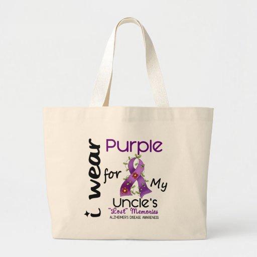 Enfermedad de Alzheimers llevo la púrpura para mi  Bolsas De Mano