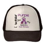 Enfermedad de Alzheimers llevo la púrpura para mi  Gorros Bordados