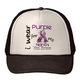 Enfermedad de Alzheimers llevo la púrpura para mi  Gorras