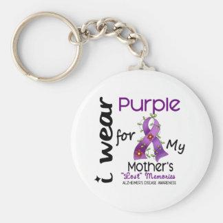 Enfermedad de Alzheimers llevo la púrpura para mi  Llavero Redondo Tipo Pin