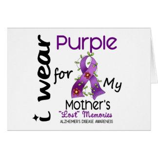 Enfermedad de Alzheimers llevo la púrpura para mi Felicitación