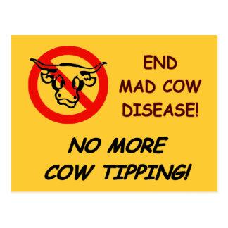 Enfermedad de las vacas locas del extremo tarjetas postales
