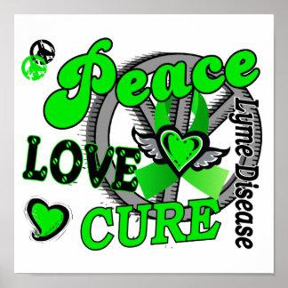 Enfermedad de Lyme de la curación 2 del amor de la Poster