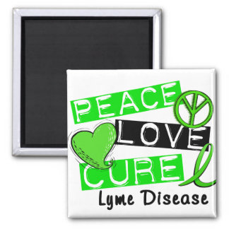 Enfermedad de Lyme de la curación del amor de la p Imán Cuadrado