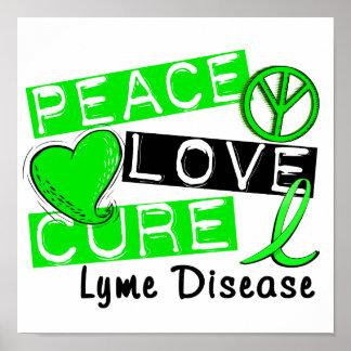 Enfermedad de Lyme de la curación del amor de la p Posters