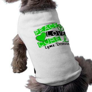 Enfermedad de Lyme de la curación del amor de la p Playera Sin Mangas Para Perro