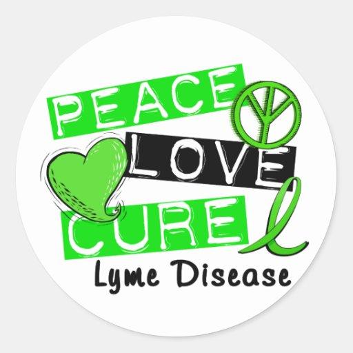 Enfermedad de Lyme de la curación del amor de la Pegatina Redonda