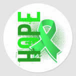Enfermedad de Lyme de la esperanza 2 Pegatina Redonda