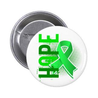 Enfermedad de Lyme de la esperanza 2 Pin Redondo 5 Cm