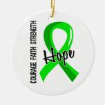 Enfermedad de Lyme de la esperanza 5 de la fe del Ornamento Para Arbol De Navidad