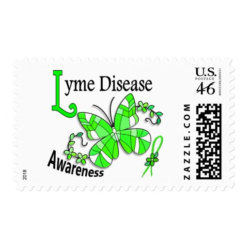Enfermedad de Lyme de la mariposa 2 del vitral Envio