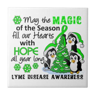 Enfermedad de Lyme de los pingüinos del navidad Teja Ceramica