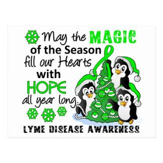 Enfermedad de Lyme de los pingüinos del navidad Tarjeta Postal